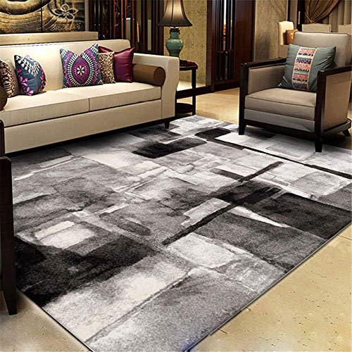 Teppiche Wohnzimmer Grauer Teppich Grand Rooms Anti-Rutsch Günstige Teppich Deco Living Moderner Geometrischer Teppich Fluffy Abs Yoga Fußmatten Mode (Color : A, Size : 160x230cm)