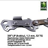 Sägekette KRUG 35cm [Teilung 3/8' P,LP -Treibgliedstärke 1,3mm -52 Treibglieder] für 35cm Schwert-kompatibel für Dolmar, Echo, Husqvarna und weitere Motorsägen