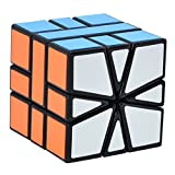 Maomaoyu Super Square One Cube Square 1 Speed Cube SQ1 SQ-1 Twist Special shaped Magic Cube 3D Puzzle Twist Brain Teasers Toy (Black)