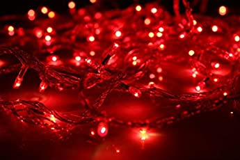 Riflection Decorative Red Color Rice FESTIVAL DECORATION Lights, 7 Metre