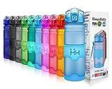 HoneyHolly Bouteille d'eau Plastique sans bpa - 400ml/500ml/700ml/1 Litre, Anti Fuite...