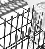 Spülmaschinen-Gestell-Abdeckkappen für alle Geschirrkörbe | schadstoffgeprüft | 100 Stück | grau | Zufriedenheitsgarantie | TOP PREIS-LEISTUNG