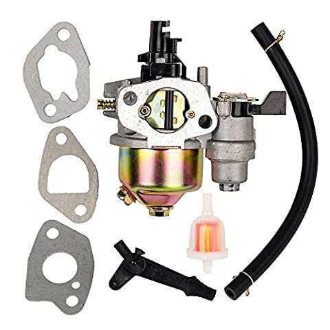 OuyFilters Carbuetor Card with carburetor gasket with Fuel Filter and Choke Lever for Honda GX160 5.5HP GX200 Engine