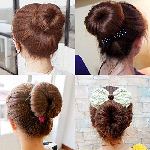Browill 2 Pack Damen Fashion Hair Styling Donut Hair Bun Maker Perfekt fur lange und dicke Haare - 6