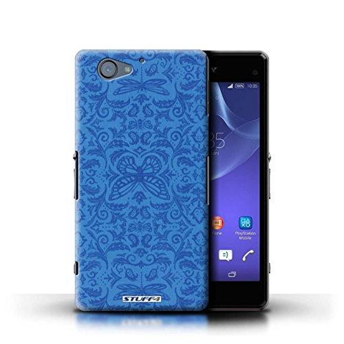 Kobalt® Imprimé Etui / Coque pour Sony Xperia A2 / Noir / Blanc conception / Série Motif médaillon Bleu