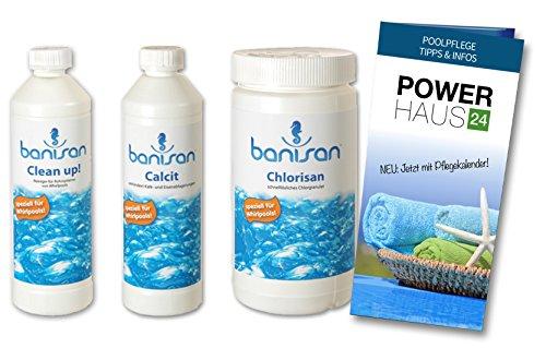 Banisan - Sparset - Clean up! 500ml, Calcit 500ml, Chlorisan 1kg - Powerhaus24 Pflegefibel