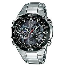Casio Funkuhren Herren-Armbanduhr Funk-Solar-Kollektion Analog Quarz EQW-M1100DB-1AER