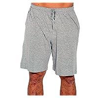 14501-Grey-XXXL At the Buzzer Men's Pajama Shorts/Sleepwear/PJs,Grey,XXX-Large