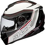 Shox Assault Tracer Casque Moto Intégral M Noir/Blanc/Rouge