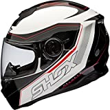 Best Motorcycle Helmets - Shox Assault Tracer Motorcycle Helmet M Black/White/Red Review