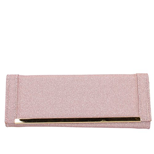 MADE IN ITALY, Pochette pour Femme Rose / Oro