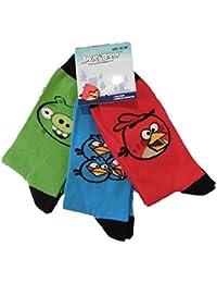 garçons Angry Birds Pack de trois chausettes tailles de taille 9 Junior pour plus vieux garçons taille 9