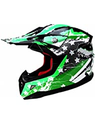 Motocross Motorradhelm Downhill Fullface Helm - Yema YM-211 Cross DH Enduro Quad Mountainbike BMX MTB Helm ECE für kinder-M