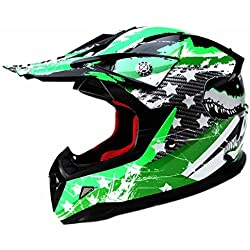 YEMA Casco Motocross Niño ECE Homologado YM-211 Casco de Moto Infantil Cross Integral Enduro Infantil para Mujer Hombre Adultos, M