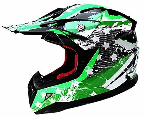 Motorcycle Youth Kids Helmet DOT - YEMA YM-211 Motocross Off Road Full Face Helmet for Street Bike Dirtbike BMX ATV,