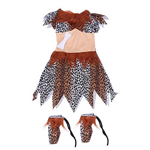 BESTOYARD Frauen Halloween Indigene Kleidung Indische Kostüme Wilde Kostüme Adult Leopard Clothing (Adult Kostüm Indischen)