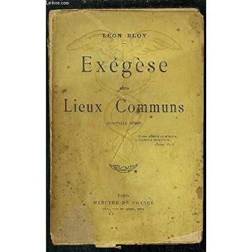 EXEGESE DES LIEUX COMMUNS