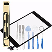 LL TRADER For iPad mini 1&2 Black Touch Screen Digitizer Front Panel Glass Lens Repair Replacement (include IC Chip) with Tools and Adhesive