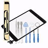 LL TRADER Für iPad Mini 1&2 Touchscreen Digitizer Glaslinse mit IC Flexkabel, Home Button und Werkzeug Schwarz Ersatz