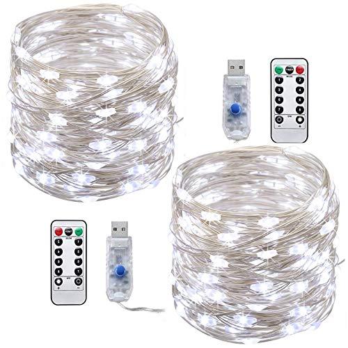 LED cadena luces,Tonskooners[2 Pack] Luces Cadena