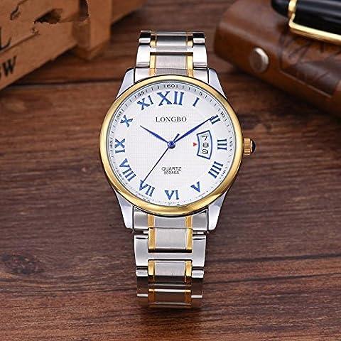 XXFFH Montre Casual Digital Mechanical Solar Vêtements Étanche En Acier Inoxydable Quartz Digital Watch Tendance Hommes , B