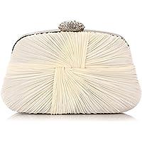 ERGEOB® Donna Clutch sacchetto di sera borsetta Clutch piccola raso frizione Borsa della sposa feste Donna Clutch taschino - Sposa Sposa Borsa Borsa