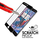 Premium Full Screen Coverage Tempered Glass Screen Guard Protector for OnePlus 3 One Plus Three / Oneplus 3T / One plus 3T ( Black )