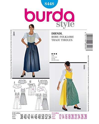 Burda 8448 Schnittmuster Dirndl (Damen, Gr. 38-54) Level 3 ()