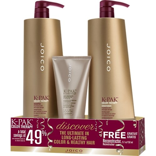 Joico - K-pak Color Therapy Liter Duo & Free 5.1 Oz Reconstructor by Joico