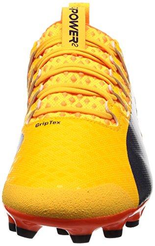 Puma, Scarpe da calcio uomo giallo-arancio (Ultra yellow-Peacoat-Orange clown fish)