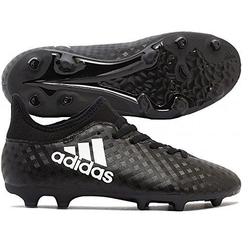 Adidas X 16.3 FG J, Scarpe da Calcio Bambino, Nero (Cblack/Ftwwht/Cblack), 38 EU