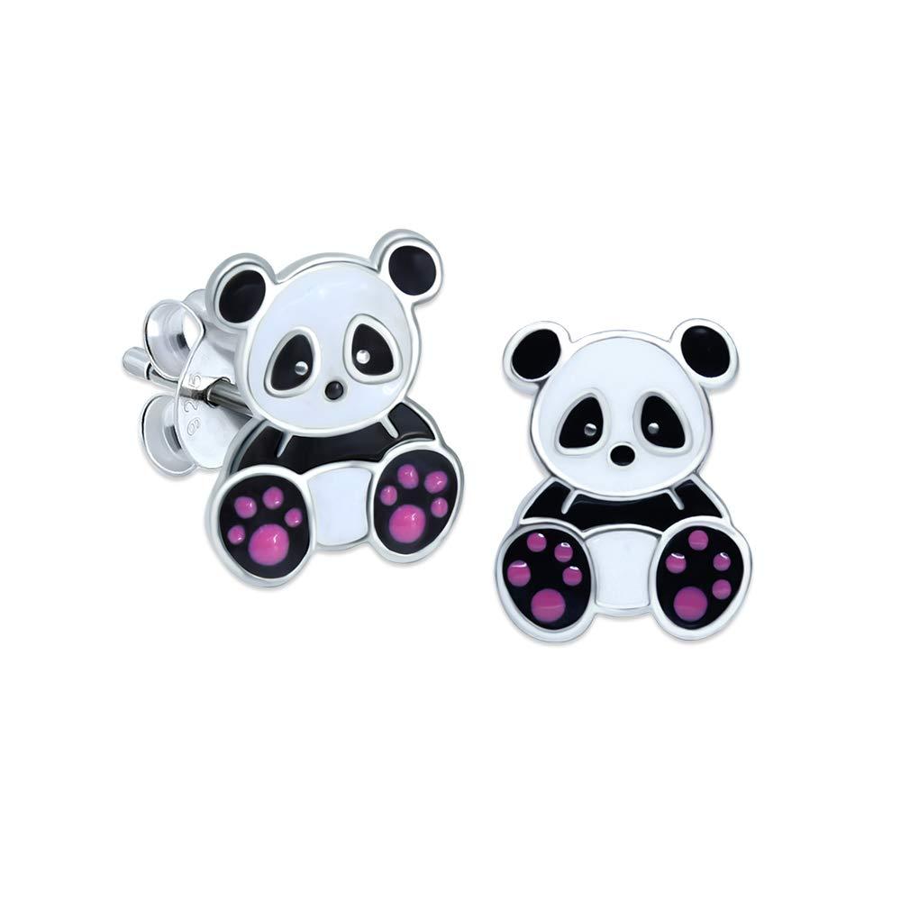 Panda Earrings – Sterling Silver Gift