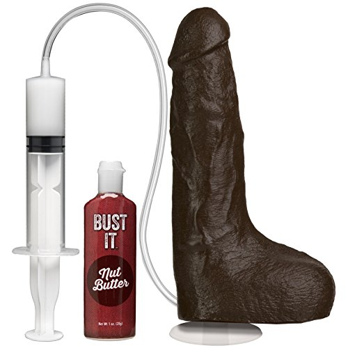 Doc Johnson Squirting Realistic Cock - ejakulierender Dildo in Penis Form - 24 cm - schwarz
