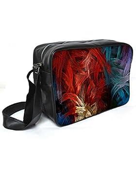 Snoogg Splash Strokes Leder Unisex Messenger Bag für College Schule täglichen Gebrauch Tasche Material PU