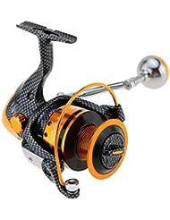 akimgo (TM) 12+ 1BB–Moulinet de pêche: 5.2: 1Moulinet spinning TT2000/3000/4000/5000/6000droit gauche main inter-changeable Roue de frein avant