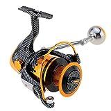 akimgo (TM) 12+ 1BB 5,2: 1carrete de pesca spinning reel TT2000/3000/4000/5000/6000derecho mano izquierda intercambiables arrastre delantero rueda, 4000 Series