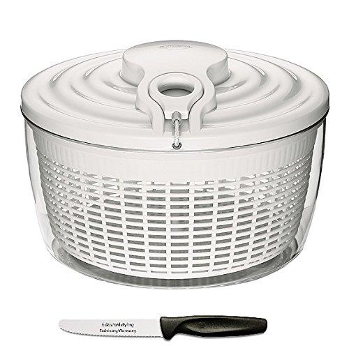 Küchenprofi Maxi-Salatschleuder + Edelstahlstyling Universalmesser im Set