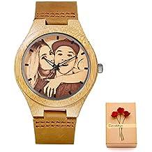 071a49d92e3b Kenon reloj personalizado reloj de cuero real deporte reloj de madera reloj  personalizado reloj de cuarzo