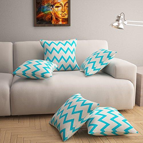 Story@Home Premium Printed 5 Piece Cotton Cushion Cover Set - 16