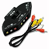 #10: Sellingal® 3 Way Audio Video Switch - Av Rca Cable