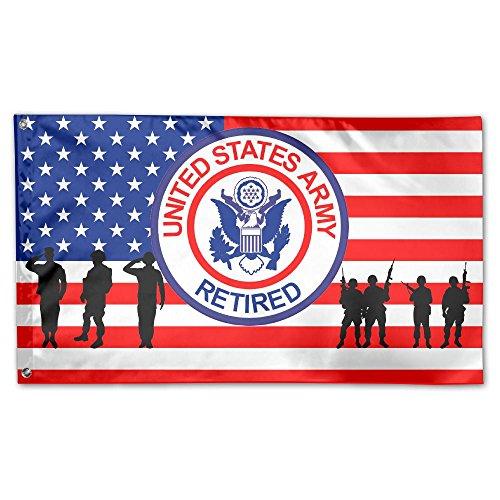 Tomboy-Militärflagge, 91 x 152 cm, doppelt genäht, mit Messingösen, Patriotischer Gartenhaus, Outdoor-Banner One Size weiß (Abzeichen Plakette)