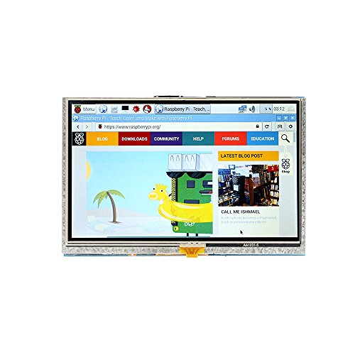 SainSmart 5 inch 800x 480 Touch Screen TFT LCD Display Module Resistive Panel HDMI Interface für Raspberry Pi 3 Pi 2 Model A/A+ B/B+ Lcd-touch Screen Kit
