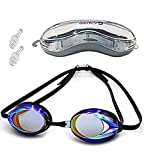 Schwimmbrille UV-geschützt Antibeschlag wasserdicht Schwimmen Spiegel für...