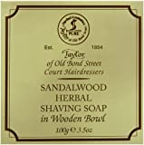 Taylor of Old Bond Street 100g Luxury Wooden Bowl Sandalwood Herbal Shaving Soap