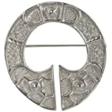 "HSH032 Large & Stunning Sterling Silver Celtic ""St Ninians"" Brooch B51"