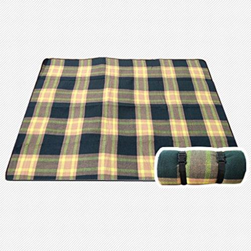 TYJ Picknick-Decken Acryl Picknick-Matten Feuchtigkeitsfeste Pad Im Freien Camping Portable Mats Park Kissen Crawling Mat Grid ( Farbe : Grid , größe : 175*200cm )