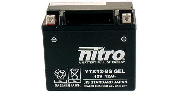 Size NA Nitro YTX7/A-4/BS Gel N YTX7/A-4//AGM Black Closed