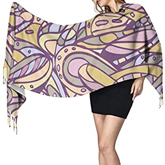 geckor Space and Floral Light Seamless Handmade 1174 Bufanda de mujer Bufandas de moda Warm Wrap Shawl Cape Regalo de Navidad para madre novia hermana