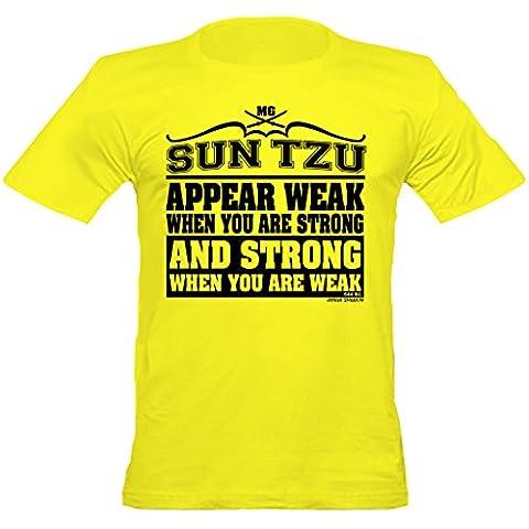Urban Urban ShaolinSun Tzu Stong Wenn Schwache Zitieren Zitieren Fitted T-Shirt, Xtra Large, Gelb