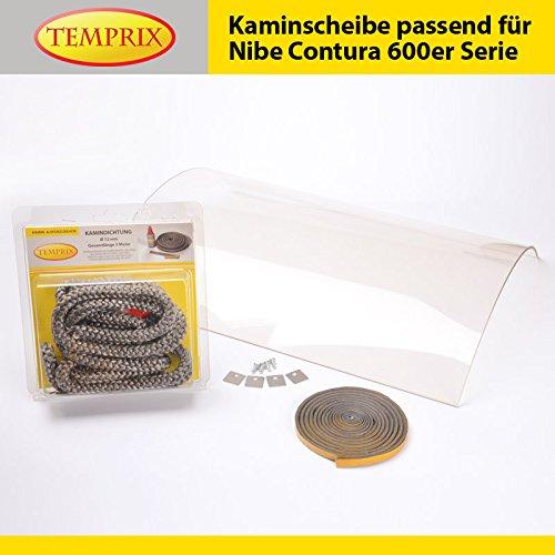Kaminglas passend für Nibe Contura 600er Serie | » Wunschmaße auf Anfrage « | Temperaturbeständig bis 800°C | Markenqualität in Erstausrüsterqualität